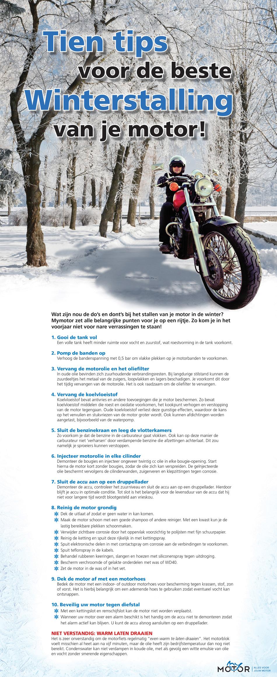 Checklist Winterstalling Motor