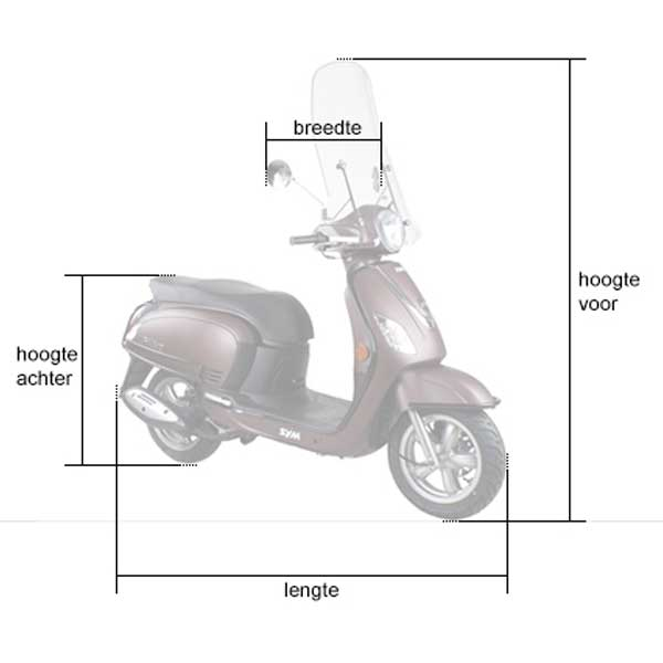 Ds Covers Scooterhoes Cup met Windscherm